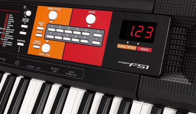 test piano numerique yamaha PSR F51