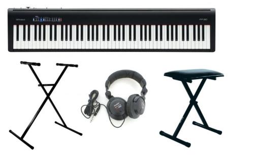 Accessoires accompagnant le piano numérique Roland FP 30