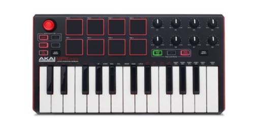 Clavier numérique Akai MPK Mini MK2 pour jouer au piano
