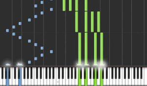 Logiciel Synthesia pour apprendre le piano en ligne